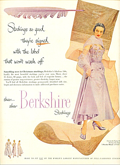 1950 - Berkshire stockings ad (Image1)