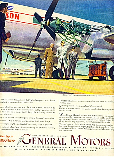 1950 - General Motors -allison Aircraft