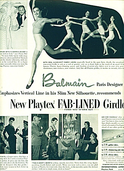 1950 -  Playtex fab lined girdle ad (Image1)