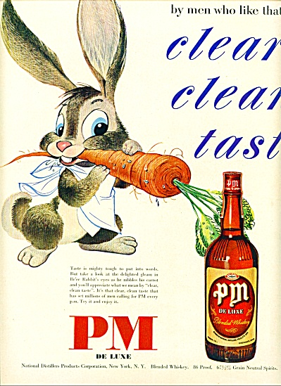 1950 - Pm Deluxe Blended Whiskey Ad