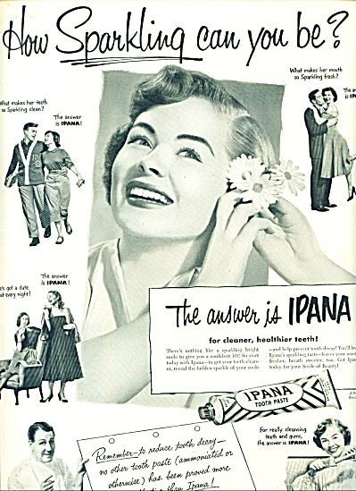 1951 - Ipana tooth paste ad (Image1)