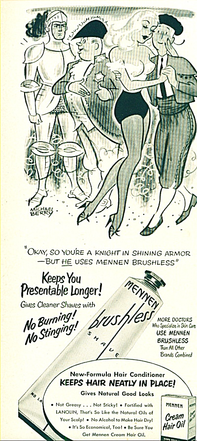 1951 -   Mennen Cream hair oil ad (Image1)