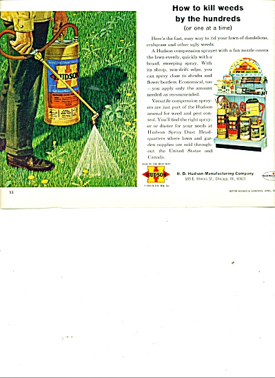 Hudson Manufacturing Company weed killer ad (Image1)