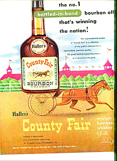 1951 - Haller's Country Fair bourbon whiskey (Image1)