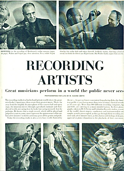 1951 - Recording Artists -great Musicians