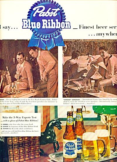 1951 - Pabst Blue Ribbon beer ad (Image1)