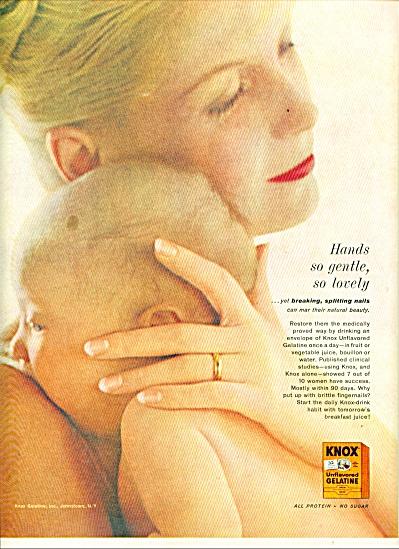 1961 -  Knox unflavored gelatine ad (Image1)