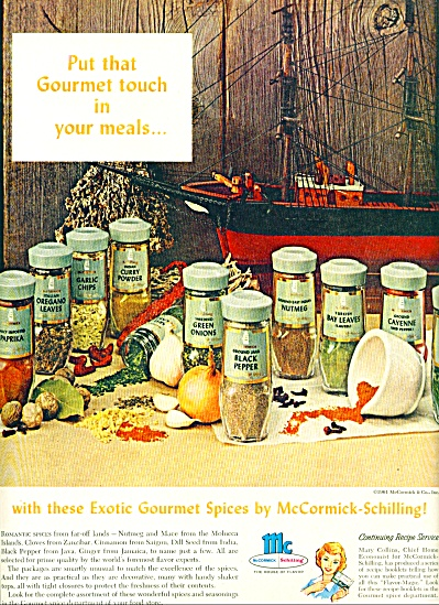 1961 -  McCormick-Schilling spices ad (Image1)