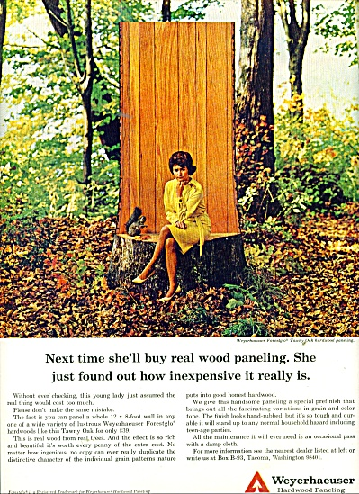 1965 Weyerhaeuser AD Woman in Woods Sitting (Image1)