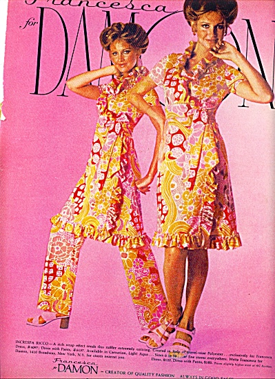 1971 -  Francesca for Damon - FASHION MODELS AD (Image1)