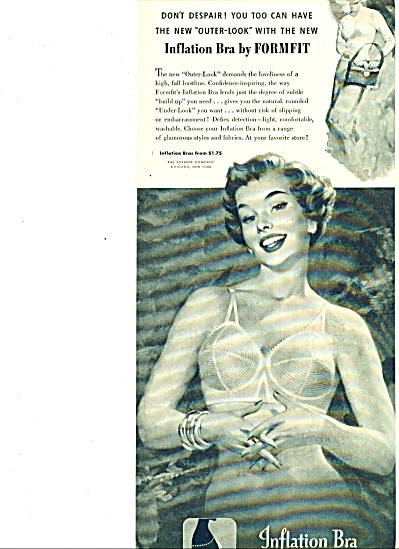 1953 - Formfit Inflation Bra Ad
