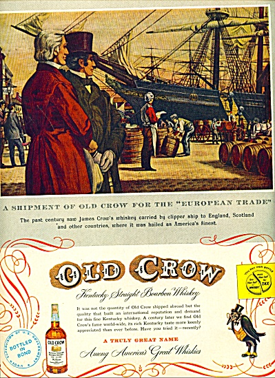 1953 -  Old Crow bourbon whiskey ad (Image1)
