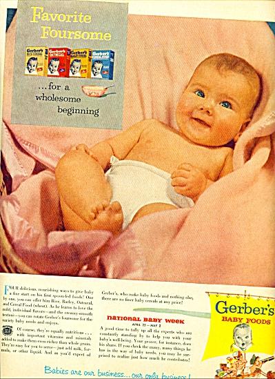 1953 -  Gerber's baby foods ad (Image1)