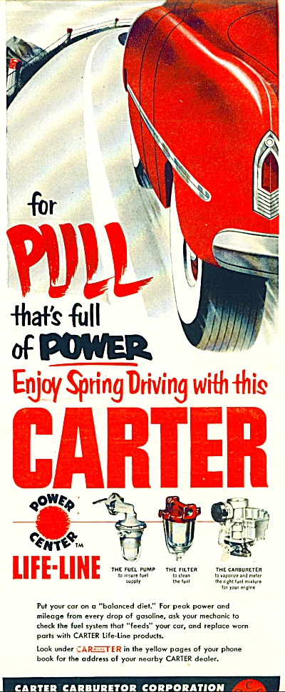 1953 - Carter Carburetor Corporation Ad