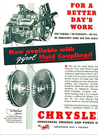 1949 -  Chrysler Industrial engines ad (Image1)