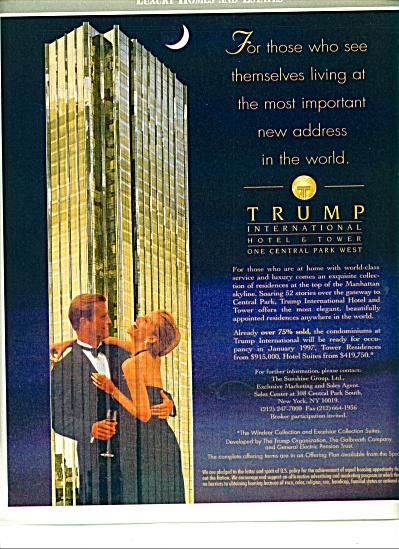 1996 -  Trump International Hotel & tower ad (Image1)
