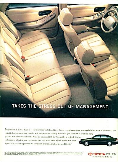 1996 -  Toyota Avalon auto ad (Image1)