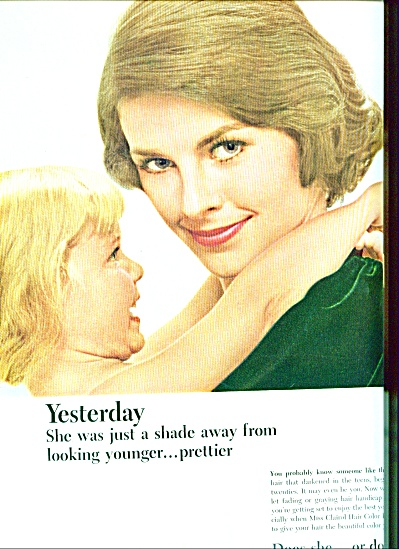 1964 -  Miss Clairol hair color bath ad 2PG (Image1)