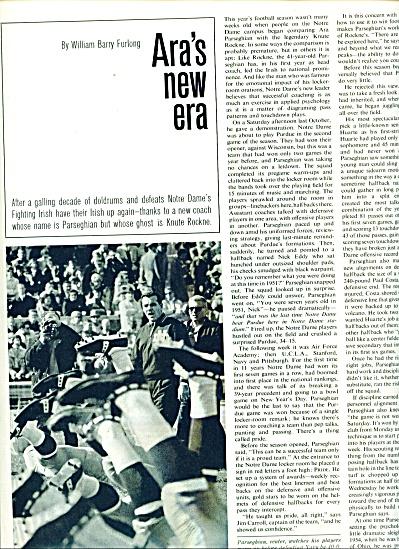 1964 -  Ara's New era by Wm. Furlong NOTRE DAME (Image1)