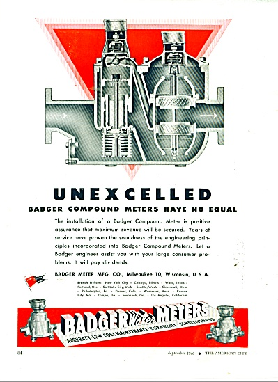 Badger Water Meters ad 1946 (Image1)
