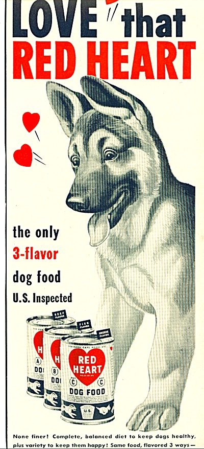 1950 -  Red Heart dog  food ad (Image1)