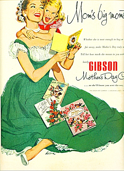 1952 - Gibson mother's day cards ad (Image1)
