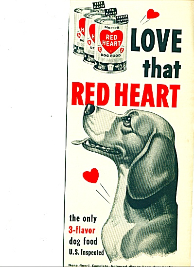 1952 -  Red Heart dog food ad (Image1)