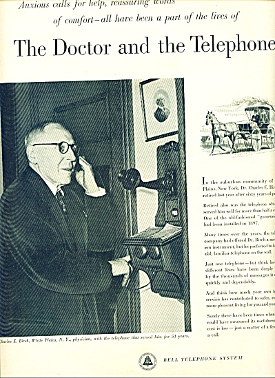 1952 -  Bell Telephone system ad (Image1)