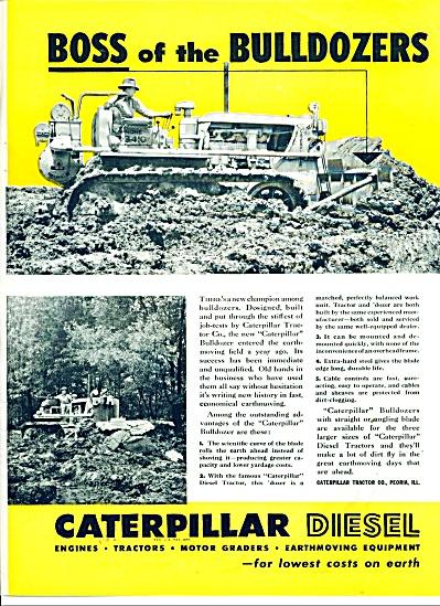 Caterpillar Diesel Bulldozers ad 1946 (Image1)