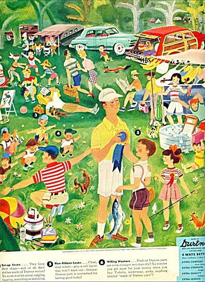 1952 =-  Durene cotton yarn ad (Image1)