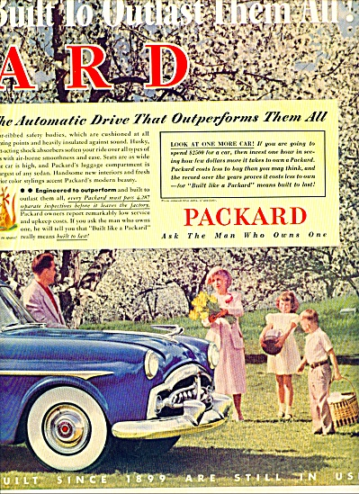 1952 -  Packard motor car ad (Image1)