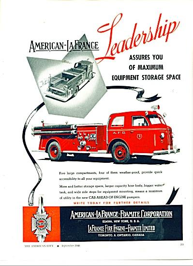American LaFrance Foamite Corporation ad 1946 (Image1)