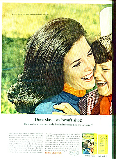 1967 -  Miss Clairol ad (Image1)