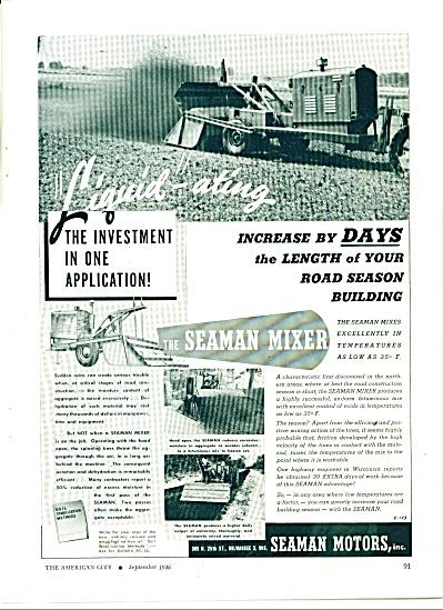 Seaman Motors-The Seaman mixer - ad 1946 (Image1)