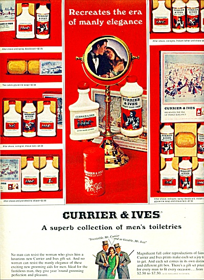 `1965 - Currier & Ives Toiletries Ad