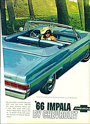 1965 - Chevrolet Impala For 1966 Ad
