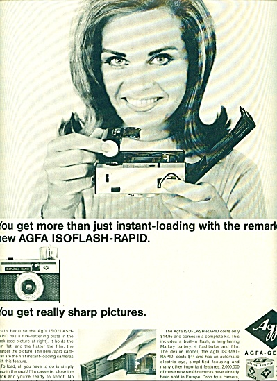 1965 -  Agfa -Gevaert isoflash rapid camera. (Image1)
