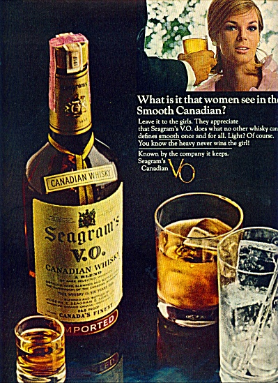 1965 - Seagrams Vo Canadian Whisky Ad