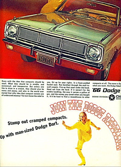 1965 - Dodge Dart For 1966 Ad
