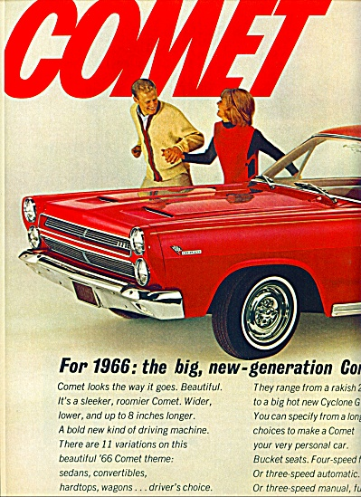 1965 - Mercury Comet For 1966