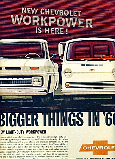 1965 - Chevrolet Trucks For 1966