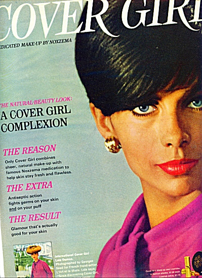 1966 - Cover Girl By Noxzema Ad Lola Dumas
