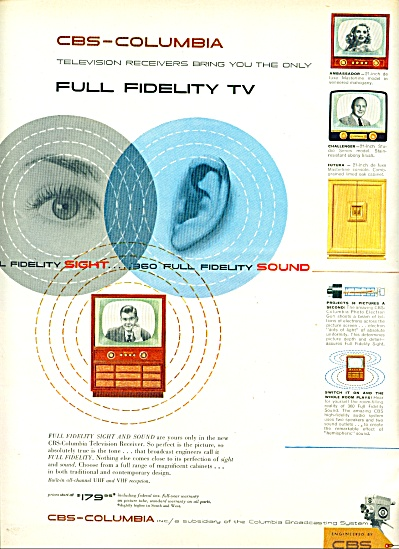 1953 - Cbs=columbia - Full Fidelity Tv.