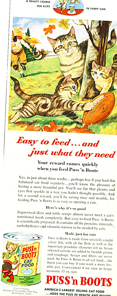 1953 -  Puss 'n Boots cat food ad (Image1)