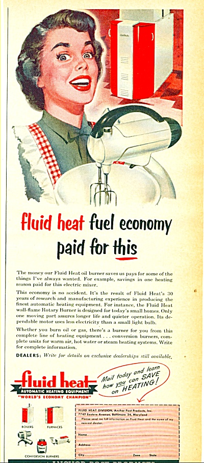 1953 -  Fluid heat automatic heating equipmen (Image1)