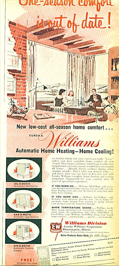 1953 -  William Automatic home heating ad (Image1)