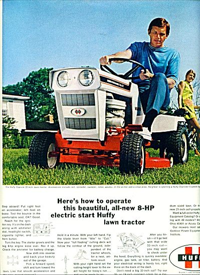 1970 -  Huffy lawn tractor ad (Image1)