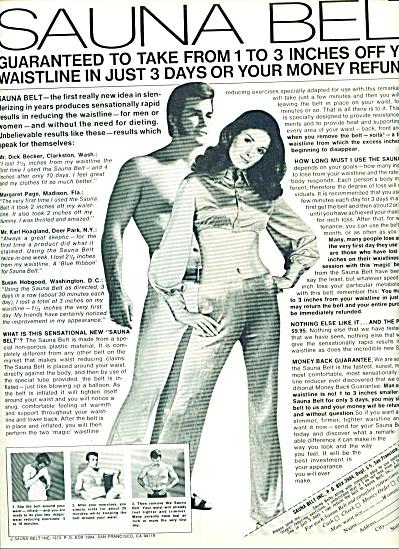 1970 -  Sauna Belt ad (Image1)