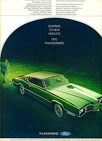 1970 - Ford Thunderbird Ad