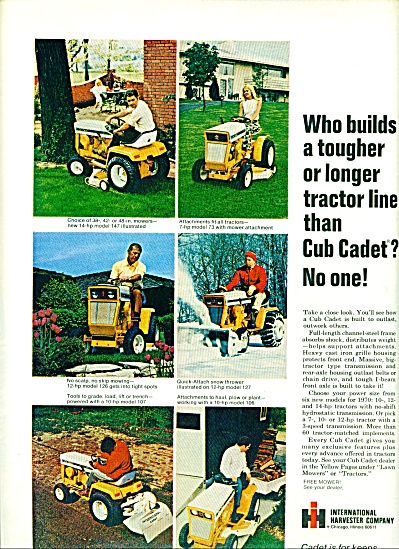 1970 - International Harvester Cadet Ad